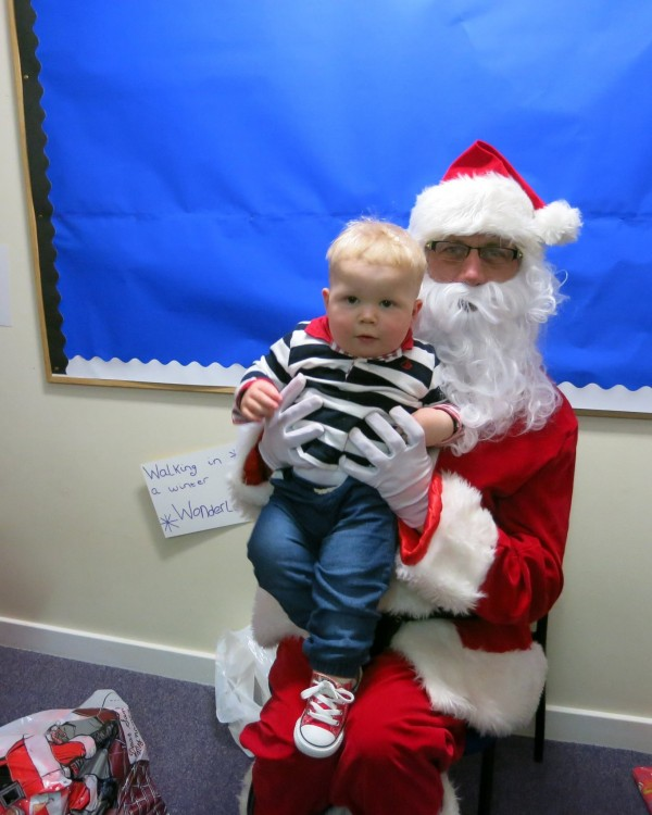 Santa at the nursery 2014
