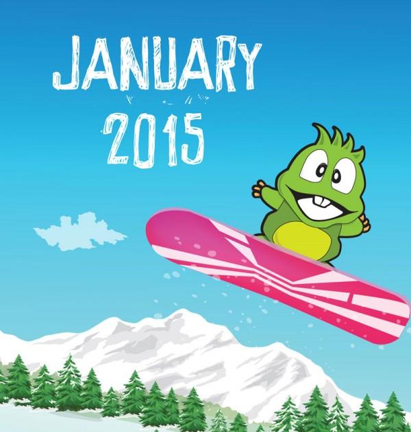 snowboarding dino